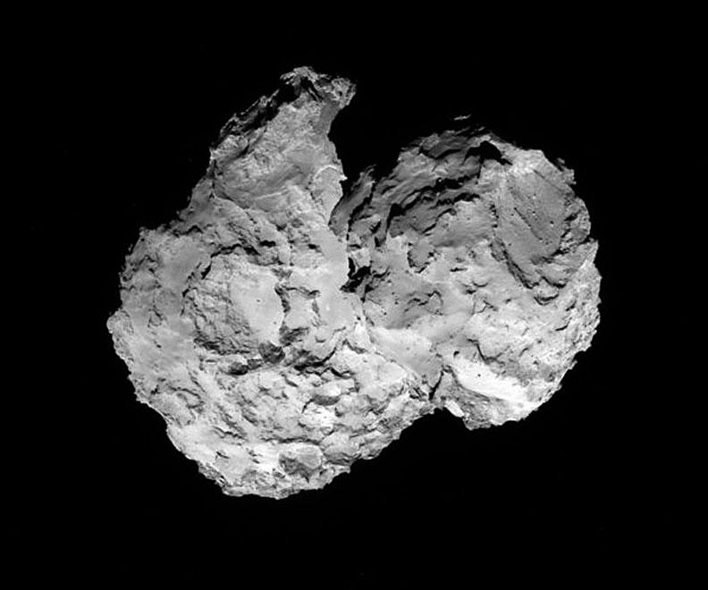 Sonda Rosetta detecta hielo de agua en cometa 67P
