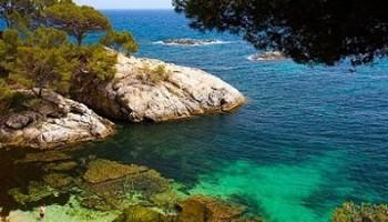 Vistas de playas de la Costa Brava