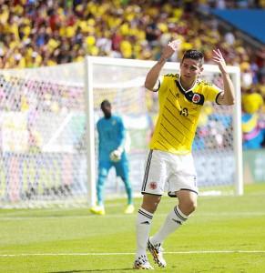 James Rodríguez, estrella de la selección colombiana