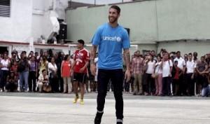 Sergio Ramos Unicef. Captura vídeo Marca