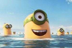 """Escena en el agua de """"Los minions"""" en la película de 2015"""