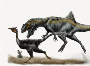 Dinosaurios terópodos en España