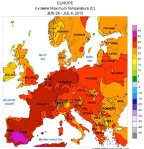 Ola de calor en Europa en 2015