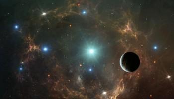 Sistema solar con cinco soles imagen