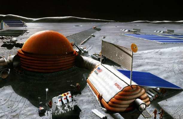 NASA desea regresar a la Luna e instalar una base espacial
