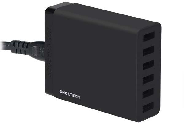 Análisis y características del cargador USB Choetech de 6 puertos