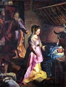 La Natividad de Nuestro Señor Jesucristo en un pesebre de Belén