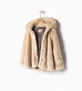 Zara abrigo de Pelo