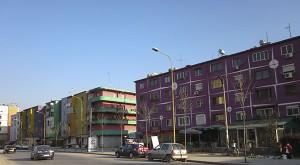 Casa de colores en Tirana