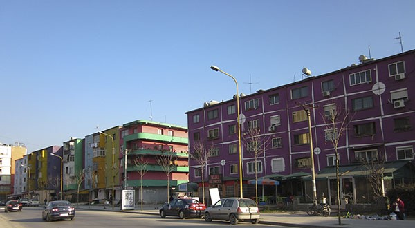 Casas de colores en Tirana