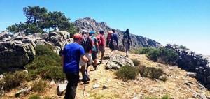 Subiendo al Pico del Lobo