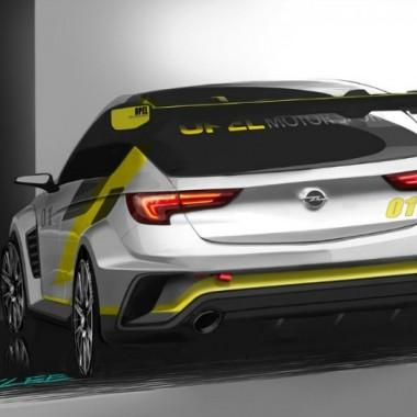 Boceto del Opel Astra TCR