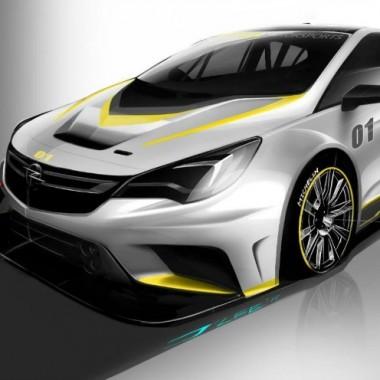 Boceto del frontal del Opel Astra TCR