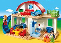 Casa moderna amueblada Playmobil 123