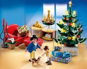 habitacion Navidad Playmobil