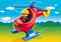 helicoptero bombero rescate playmobil 123