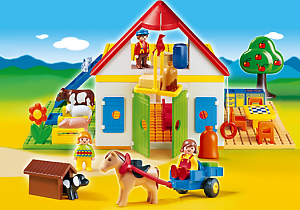 animales granja playmobil 123