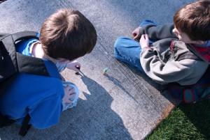 juego infantil en la calle