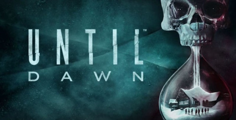 logotipo Until Dawn. Terror