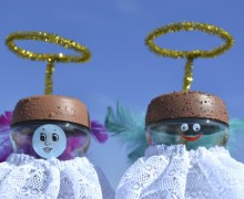 Angelitos para bolos de Navidad