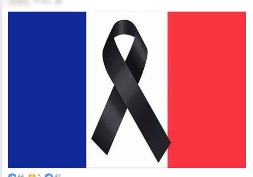 Bandera París Atentados Terroristas Noviembre 2015