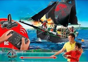 Barco pirata motor submarino Playmobil