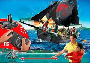 Barco pirata motor submarino Playmobil