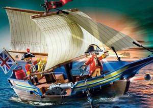 Barco ejército británico Playmobil