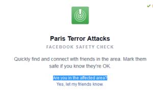 Facebook herramienta etiquetarse Save Terrorismo Francia