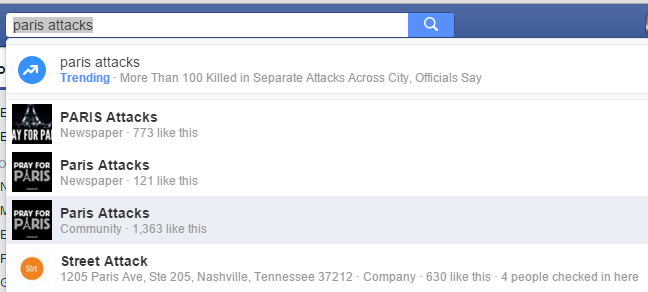 Facebook News acapara las noticias sobre el ataque terrorista a París