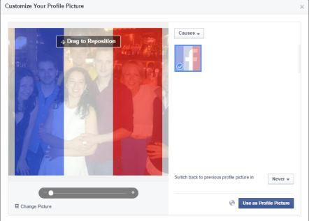 Facebook invita a cambiar la foto de perfil con la bandera francesa en solidaridad por los atentados de París