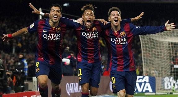 Los delanteros del Barcelona ganan y se divierten
