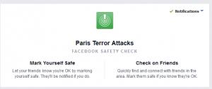 Márcate como a salvo FB - Ataques terroristas Francia
