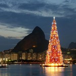 Árbol de Navidad flotante: Río de Janeiro