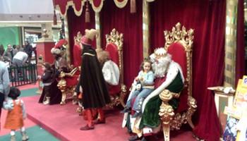 Reyes Magos en centro comercial