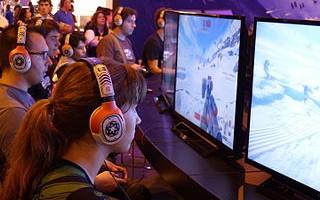 Exhibición de Star Wars: Battlefront en España 2015 en Madrid Games