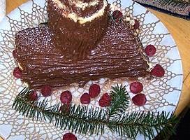 Tronco de Navidad con chocolate para recetas navideñas