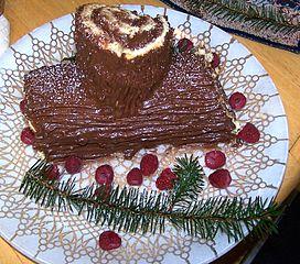 Recetas navideñas: tronco de Navidad con chocolate