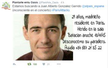 Juan Alberto González Garrido, español muerto en los atentados de París de noviembre de 2015