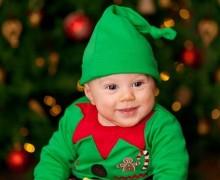 bebe disfraz elfo navidad