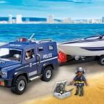 furgón policial remolque playmobil