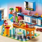cocina rosa casa playmobil abuela bebe