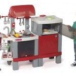 cocina infantil juguete niños barbacoa transformable