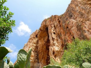 Custonaci, provincia de Trápani: marco natural del pesebre