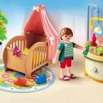dormitorio bebe gran casa de muñecas playmobil