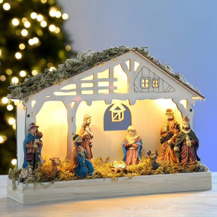 Consigue tu portal de belén con luces para esta Navidad
