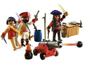 tripulacion pirata con armas playmobil