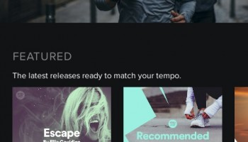 Spotify Running screenshot