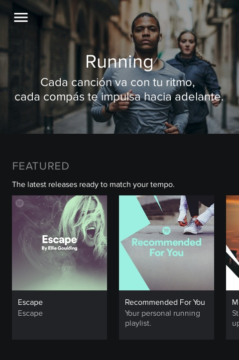 Spotify Running y otros accesorios para runners.
