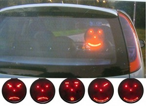 luz led emoticonos intercambiables coche